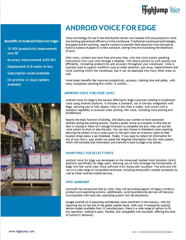 Cover for Android Voice for edge